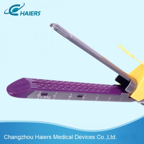 Disposable endoscopic linear cutter stapler and reloading unit