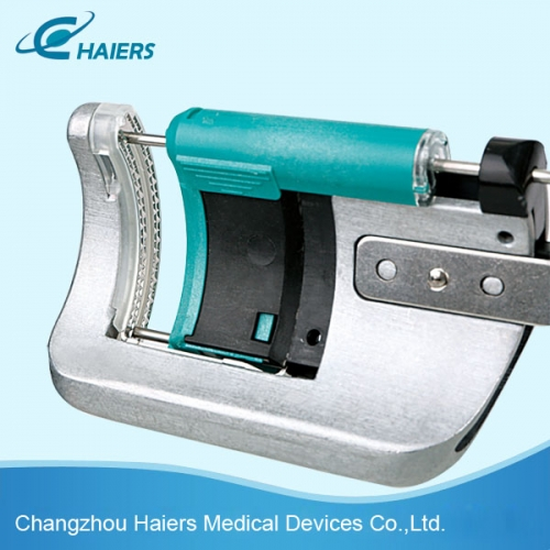 Disposable curved cutter stapler and reloading unit